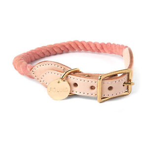 Brand new small found my animal rope collar - pink rose