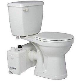 Saniflo toilet and pump.