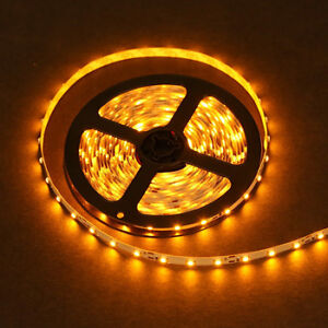 5 meters of yellow LEDs strip.
