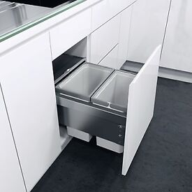 NEW Hafele pull out kitchen bin for 400mm width kitchen cabinet (door mounted)