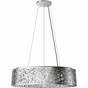 The Crystal Ellipse Semi Flush Pendant-Chrome finish