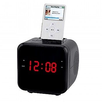 Supersonic 1.2 Ipod Iphone Docking Station With Am Fm Radio And Alarm Clock