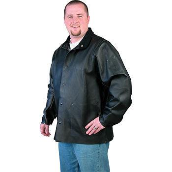 New Black Stallion Duralite Leather Welding Jacket Xl
