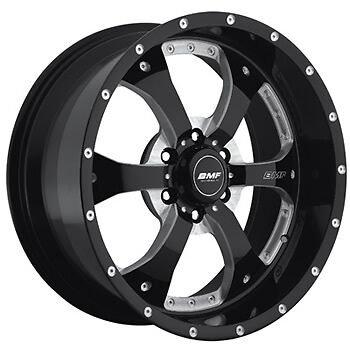 20x9 Black BMF Novakane 6x5.5 +0 Wheels W/ Nitto NT555 285/30/20 Tires New