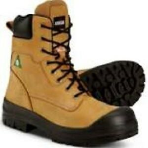 Steel toe work boots sz 11 & safety vest