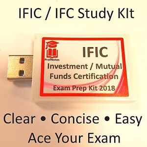 Investment / Mutual Funds Course IFIC IFC 2018 Exam Prep Package