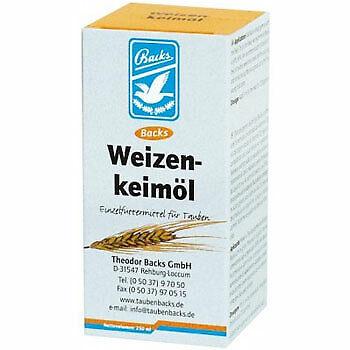 Backs wheat germ oil 100ml, (natural vitamin E preparation). Pigeons & Birds