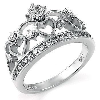 Silver Crown Ring Ebay