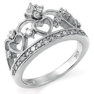 silver crown ring - Crown Wedding Rings