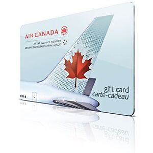 air canada gift card worth 2000$