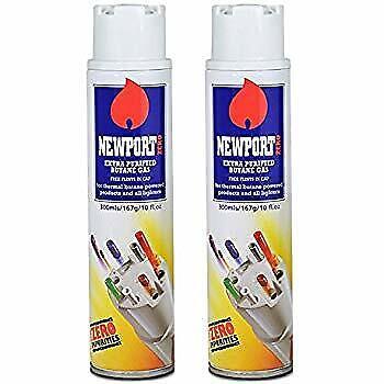 2 x Newport Butane Gas Extra Purified Zero Impurities Fuel T