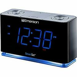 SmartSet Alarm Clock Radio with Bluetooth Speaker, USB Charger for iPhone and An