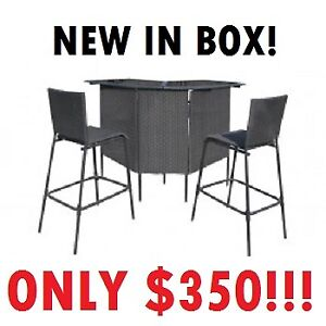 JYSK --- ATHENS Polyrattan Bar TABLE + CHAIRS --- ONLY $350!!