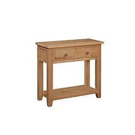 Solid Oak Small Console Table