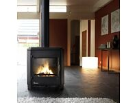 Invicta Carolo contemporary wood burner fire stove wood log burning
