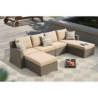 50% off Hampton sectional patio set. Hampton