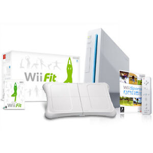 Wii + Wii Fit manettes...