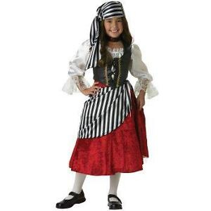 Pirate Wench Girl's Costume Size 6-8