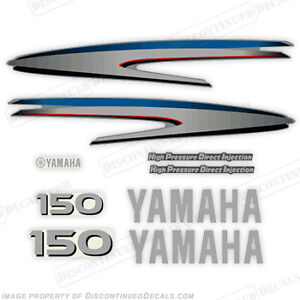 Yamaha Outboard Motor Decal Kit 150hp HPDI Kit - Marine Grade Decals 100hp 115hp