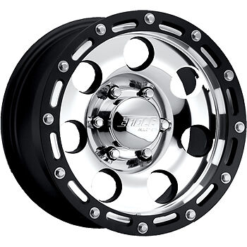 17x8 Super Finish Black American Eagle 137 8x170 -4 Wheels Trail Grappler