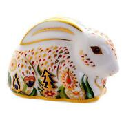 Royal Crown Derby Paperweight Rabbit