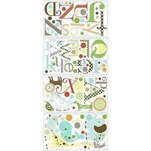 RoomMates RMK1440SCS Animal Alphabet Peel and Stick Wall Decals (Open Box)