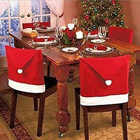 Bulk Sale Santa hat dining Chair Cover xmas party
