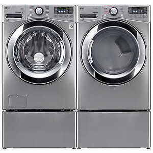 LG Deluxe True Steam Washer and Dryer With Turbo Wash