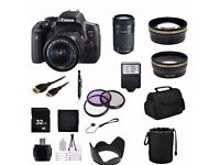 Canon DSLR CAMERA 750D/T6i + Professional Accessory Bundle. BARGAIN!. For Professional Photography
