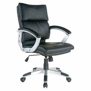 TygerClaw Mid Back Leather Office Chair