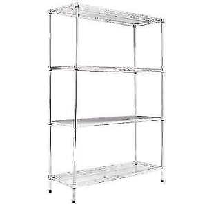 $80 Commercial Silver Storage Shelving