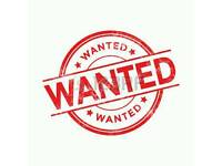 Wanted 1 or 2 bed flat or house