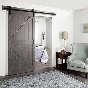 Porte Glissant Sliding Door Wood Barn Grange Style
