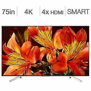 Télévision LED TV 75 POUCE XBR75X850F 4K ULTRA UHD HDR 120Hz ANDROID SMART WI-FI SONY - BESTCOST.CA