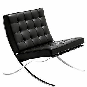 BARCELONA lounger in premium ITALIAN leather in black or white
