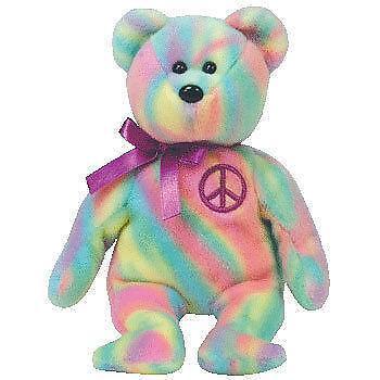 Peace Bear Beanie Baby  112b140750e