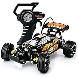 Fun Turbo Speed Remote Control Toy - 15kmh Fast Electric Radio Controlled Buggy with Racing Tyres