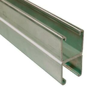 "Unistrut P1001 1-5/8"" x 1-5/8"" x 10' 12 Ga. Pre Galvanized Steel Channel"