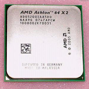 AMD Athlon 64x2 5200+ (2.7ghz) dual core CPU+Thermal Paste