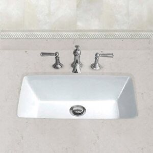 HAHN Ceramic Bowl Rectangular Undermount Bathroom Sink with Over