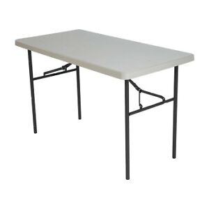 4' rectangular fold in half table new