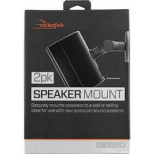 Brand new Rocketfish - Tilting Wall Mounts for Most Small Speakers (2-Pack) - Black; Storedeal_298WM10