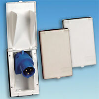 Caravan/motorhome Mains Inlet Rectangle Box In White Po114 - pennine - ebay.co.uk