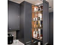 larder cupboard 2 doors 400mm - 600mm - handmade - bespoke - solid wood - pine - oak - kitchen unit