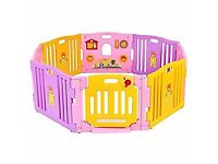 NEW SEALED - MCC Piink Plastic Baby Playpen 8 sides