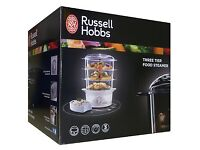 Russell Hobbs 3-tier food steamer, in box like new