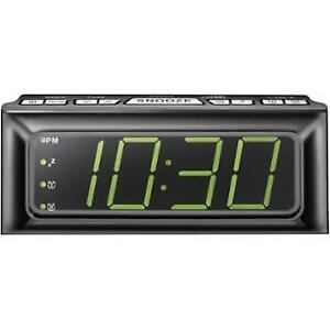 Insignia NS-CLOPP2-C Digital AM/FM Clock Radio with Large LED Di