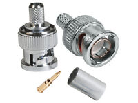 BNC/59 - BNC Crimp-on Plug connector for RG59 Cable cctv camera