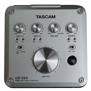 Tascam US322 Audio Interface included Blue Spark Microphone