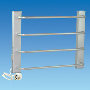 Heated Towel Rail, 240V 70w Leveche 4-Bar Wall Mounted Caravan Motorhome TR4825